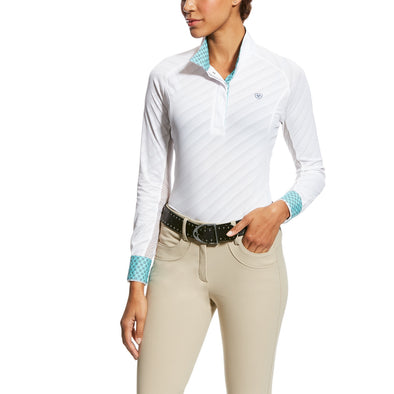 Ariat Marquis Show Shirt - White Mesh - Equestrian Chic Boutique