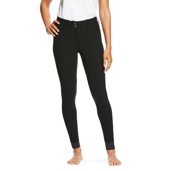 Ariat Tri Factor Grip Knee Patch Breech - Black - Equestrian Chic Boutique
