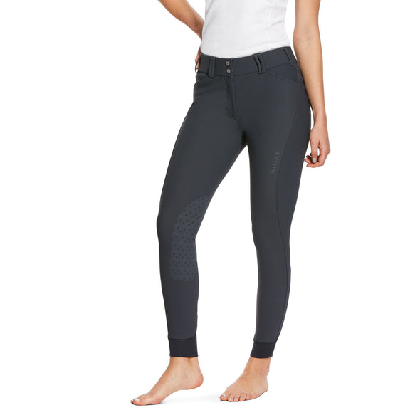 Ariat Tri Factor Grip Knee Patch Breech - Ebony - Equestrian Chic Boutique
