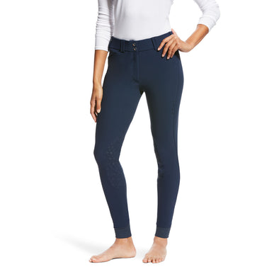 Ariat Tri Factor Grip Knee Patch Breech - Navy - Equestrian Chic Boutique