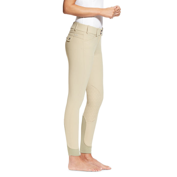 Ariat Tri Factor Grip Knee Patch Breech - Tan - Equestrian Chic Boutique