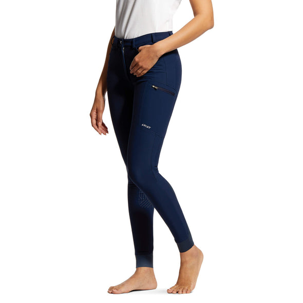 Ariat Triton Grip Knee Patch Breech - Navy  - Equestrian Chic Boutique