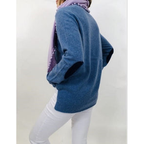 Boo Gemes Elbow Patch Cashmere Sweater
