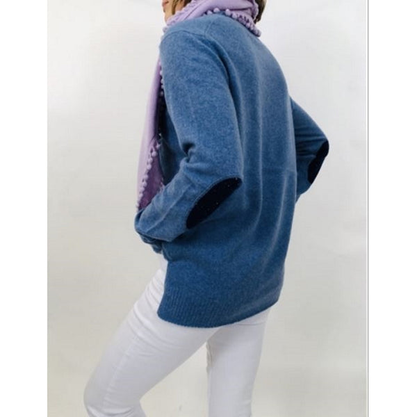 Boo GemesCamo Elbow Patch Cashmere Sweater