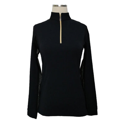 Equi In Style Blocked Cool Shirt - Black with Cashmere - Equestrian Chic Boutique