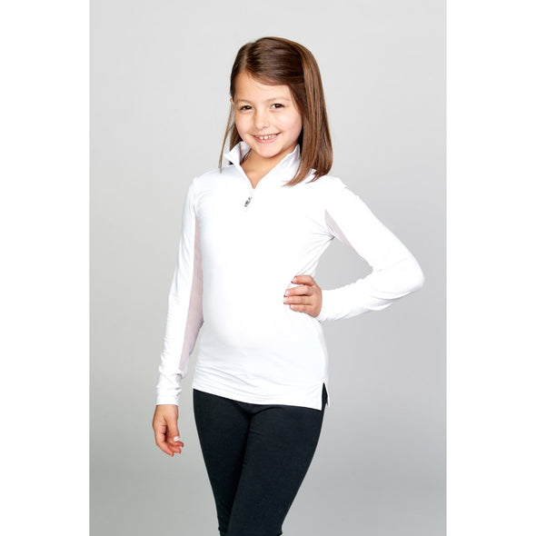 Equi In Style Leadline Solid COOL Shirt - White - Equestrian Chic Boutique