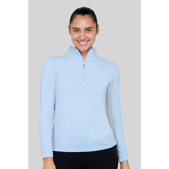 Equi In Style Solid Cool Shirt - Powder Blue - Equestrian Chic Boutique