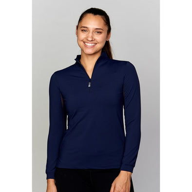 Equi In Style Solid Cool Shirt - Navy - Equestrian Chic Boutique