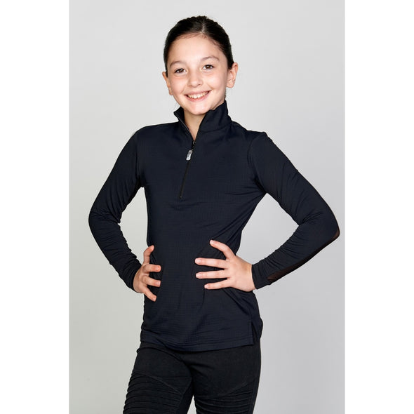 Equi In Style Youth Cool Shirt - Black - Equestrian Chic Boutique