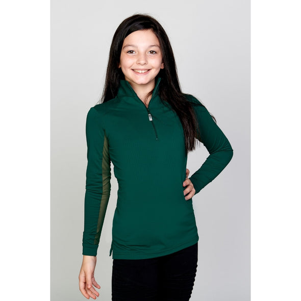 Equi In Style Youth Cool Shirt - Hunter - Equestrian Chic Boutique