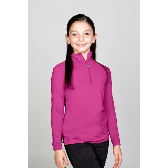 Equi In Style Youth Cool Shirt - Razberry - Equestrian Chic Boutique