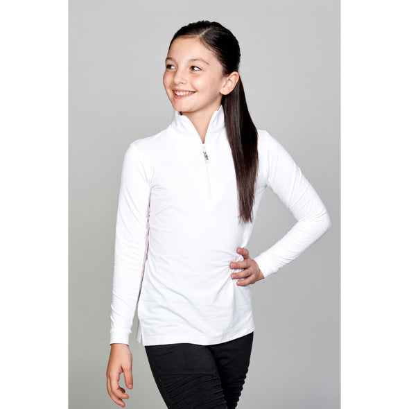 Equi In Style Youth Cool Shirt - White - Equestrian Chic Boutique