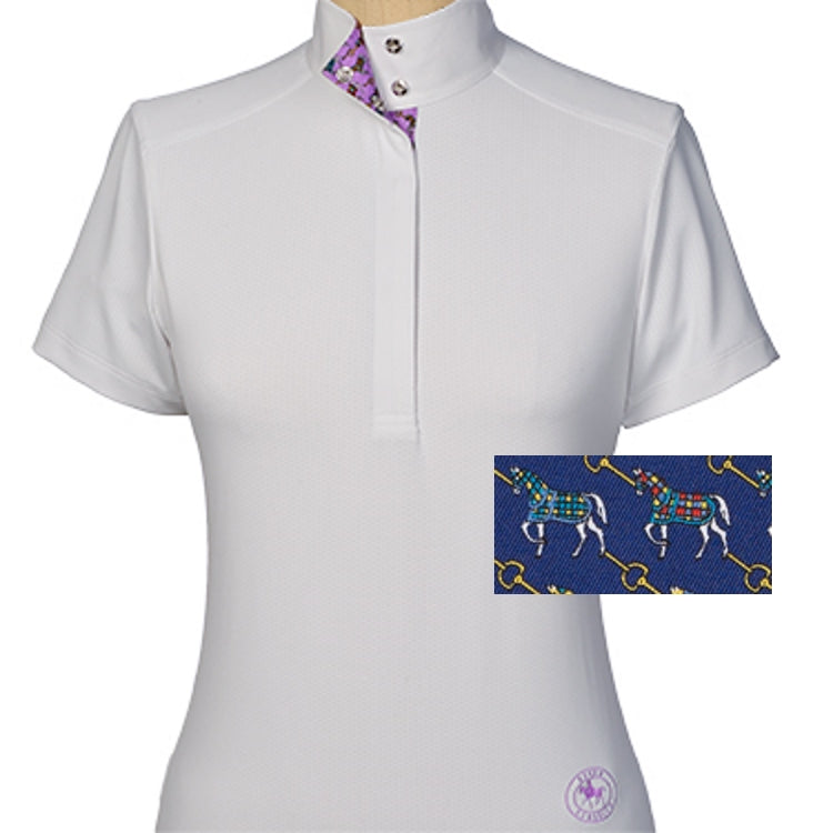 Essex Classics Cheval Ladies Straight Collar Short Sleeve Show Shirt - Equestrian Chic Boutique