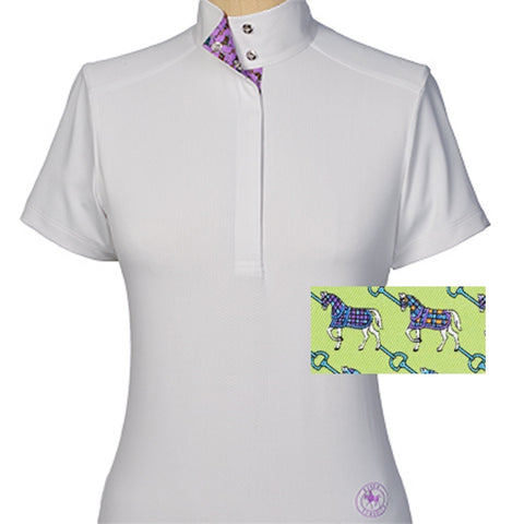 Essex Classics Cheval Ladies Straight Collar Short Sleeve Show Shirt