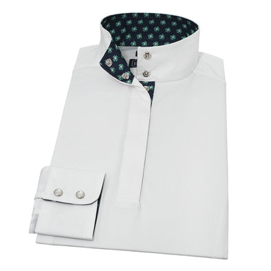 Essex Classics 4 Leaf Clover Straight Collar Show Shirt - Equestrian Chic Boutique