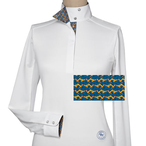 Essex Classics Martini Ladies Talent Yarn Wrap Collar Show Shirt