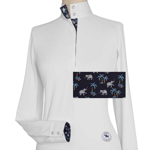 Essex Classics Elephanti Ladies Talent Yarn Straight Collar Show Shirt