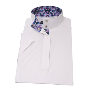 Essex Classics Kaleidoscope Ladies Straight Collar Short Sleeve Show Shirt - Equestrian Chic Boutique