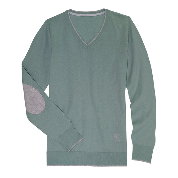 Essex Classics Trey V-Neck Sweater - Mint Green - Equestrian Chic Boutique