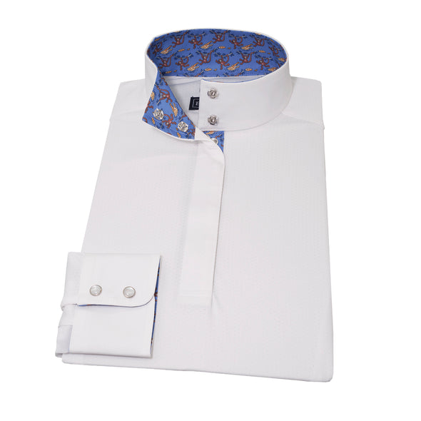 Essex Classics Monkeys & Alligators Straight Collar Show Shirt - Equestrian Chic Boutique