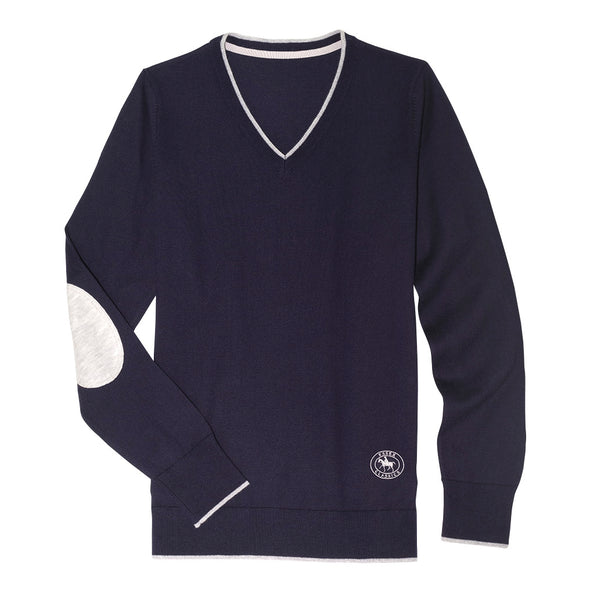 Essex Classics Trey V-Neck Sweater - Navy - Equestrian Chic Boutique