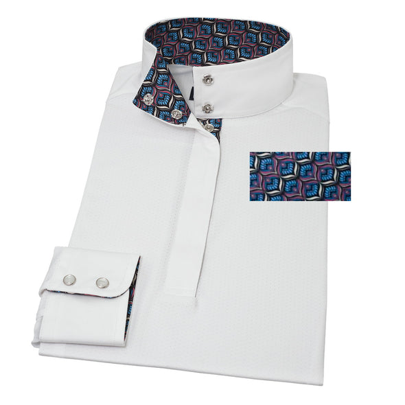 Essex Classics Peacock Straight Collar Show Shirt - Equestrian Chic Boutique