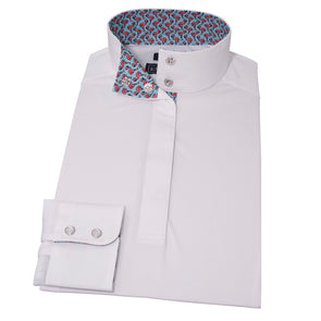 Essex Classics Pink Flamingo Straight Collar Show Shirt - Equestrian Chic Boutique