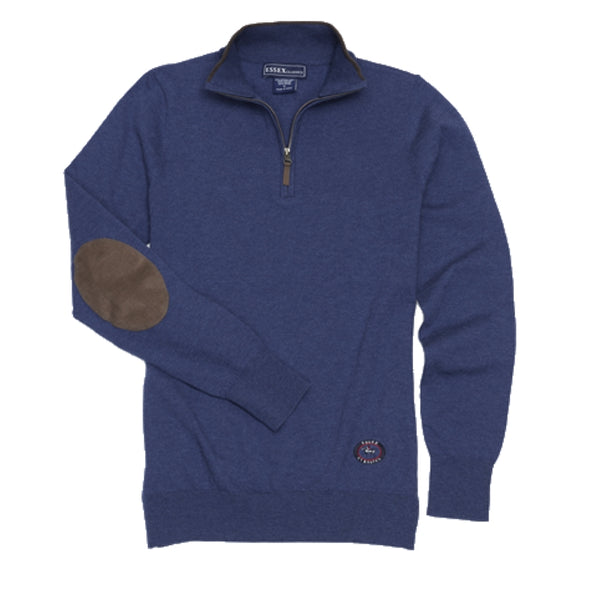 Essex Classics Trey Quarter Zip Sweater - Dark Blue - Equestrian Chic Boutique