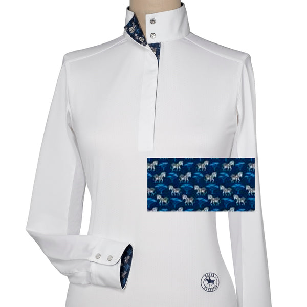 Essex Classics Zebra Ladies Talent Yarn Straight Collar Show Shirt