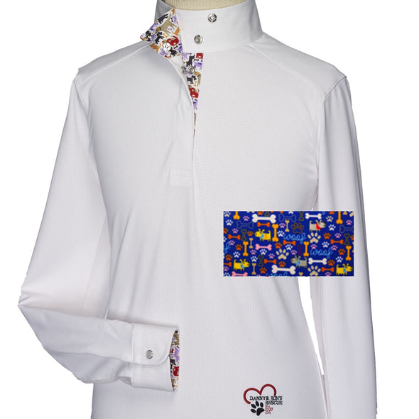 Essex Classics Danny & Ron's Rescue Girls Talent Yarn Wrap Collar Show Shirt - Equestrian Chic Boutique