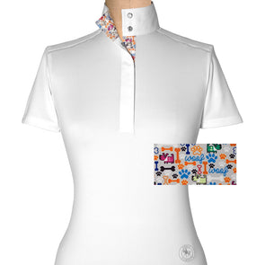 Essex Classics Danny & Ron's Rescue Ladies Short Sleeve With Piping Show Shirt - Equestrian Chic Boutique