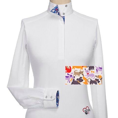 Essex Classics Plumbago Ladies Talent Yarn Straight Collar Show Shirt