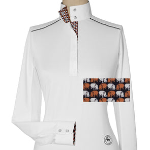 Essex Classics Hippos Ladies Talent Yarn Straight Collar Show Shirt - Equestrian Chic Boutique