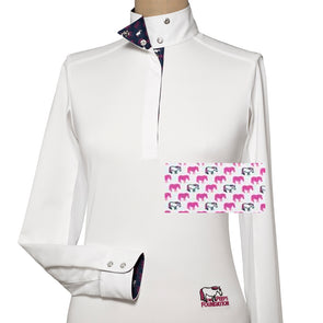 Essex Classics Peeps Girls Talent Yarn Wrap Collar Show Shirt - Equestrian Chic Boutique
