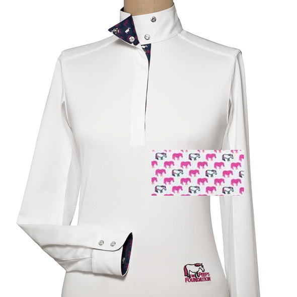 Essex Classics Peeps Girls Talent Yarn Straight Collar Show Shirt - Equestrian Chic Boutique