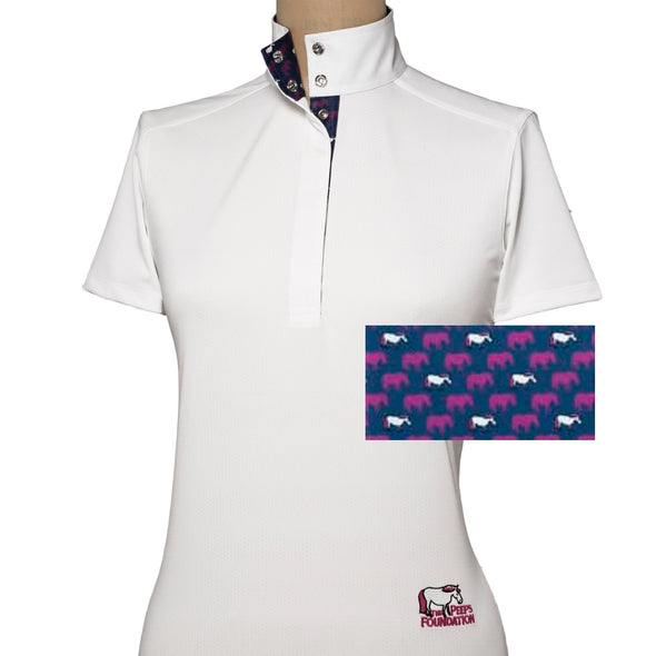 Essex Classics Peeps Ladies Straight Collar Short Sleeve Show Shirt - Equestrian Chic Boutique
