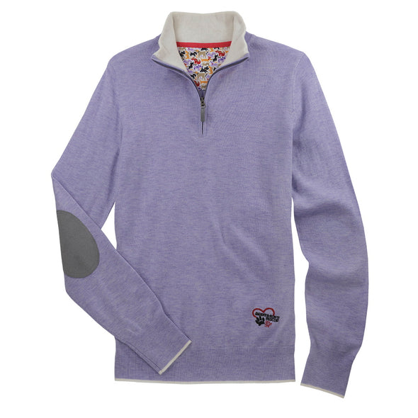 Essex Classics Trey Quarter Zip Sweater - Danny & Rons Lavender - Equestrian Chic Boutique