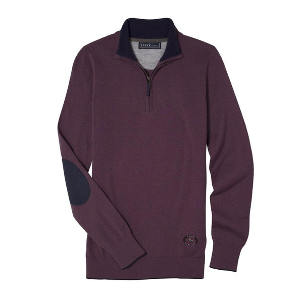 Essex Classics Trey Quarter Zip Sweater - Purple - Equestrian Chic Boutique