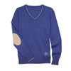 Essex Classics Trey V-Neck Sweater - Blue - Equestrian Chic Boutique