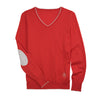 Essex Classics Trey V-Neck Sweater - Coral - Equestrian Chic Boutique