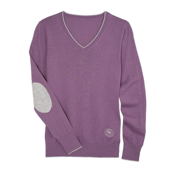 Essex Classics Trey V-Neck Sweater - Lilac - Equestrian Chic Boutique