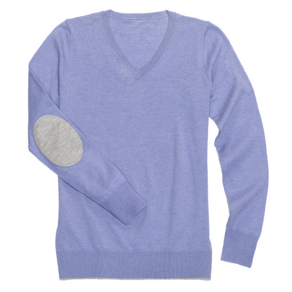 Essex Classics Trey V-Neck Sweater - Violet - Equestrian Chic Boutique