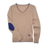 Essex Classics Trey V-Neck Sweater - Oatmeal - Equestrian Chic Boutique