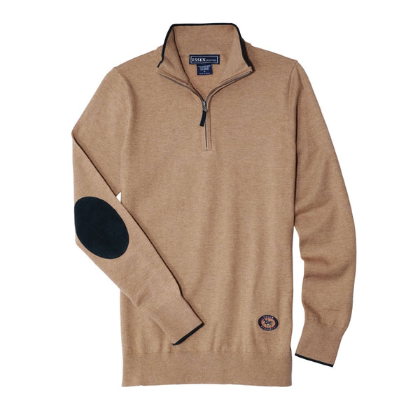 Essex Classics Trey Quarter Zip Sweater - Tan - Equestrian Chic Boutique