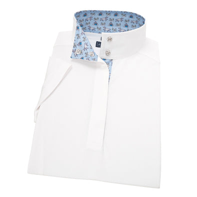 Essex Classics In Flight Ladies Straight Collar Short Sleeve Show Shirt - Equestrian Chic Boutique