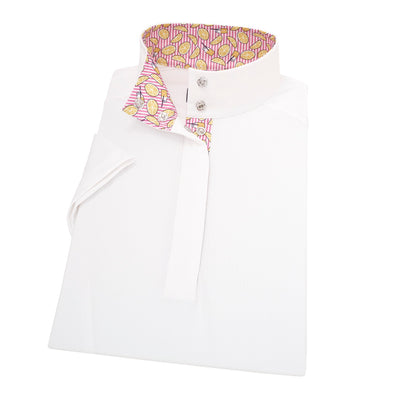 Essex Classics Lemonade Ladies Straight Collar Short Sleeve Show Shirt - Equestrian Chic Boutique