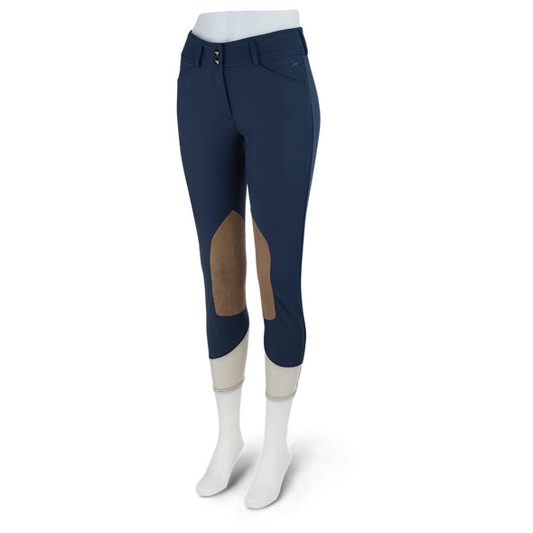 RJ Classics Mid Rise Front Zip Anna Breech - Navy - Equestrian Chic Boutique