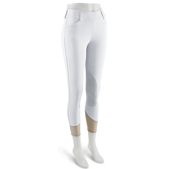 RJ Classics Mid Rise Side Zip Euroseat BELMONT Breech - White - Equestrian Chic Boutique