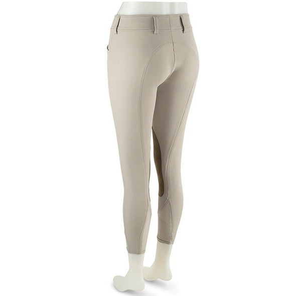 RJ Classics Low Rise Front Zip Euroseat GULF Breech - Sand - Equestrian Chic Boutique