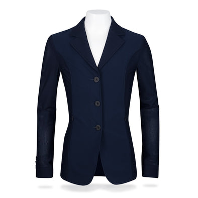 RJ Classics Harmony Jr Girls Mesh Show Coat - Navy - Equestrian Chic Boutique